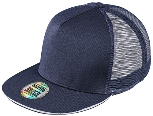 MB6636 Pro Cap Mesh 5 Panel - Navy/wit - One size
