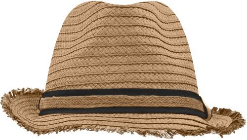 MB6703 Trendy Summer Hat - Caramel/zwart - S/M
