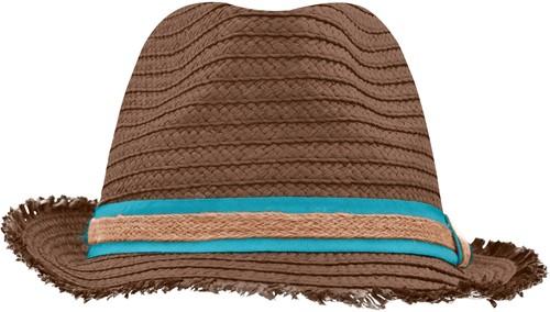 MB6703 Trendy Summer Hat - Nougat/turquoise - L/XL