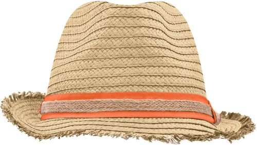 MB6703 Trendy Summer Hat - Stro/oranje - L/XL