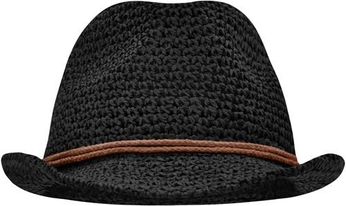 MB6704 Summer Hat - Zwart/bruin - L/XL