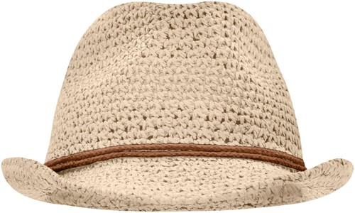 MB6704 Summer Hat - Naturel/bruin - L/XL