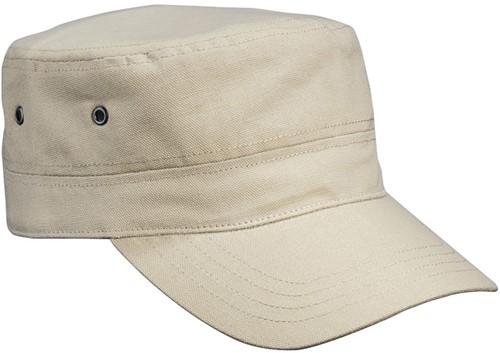 MB7018 Military Cap for Kids - Khaki - One size