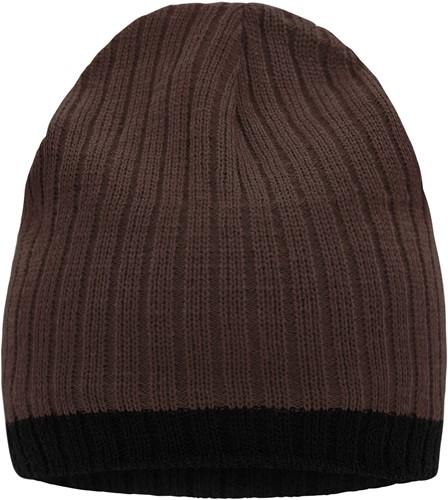 MB7102 Knitted Hat - Koffie/zwart - One size