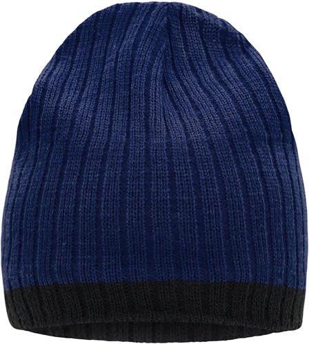 MB7102 Knitted Hat - Inkt/zwart - One size