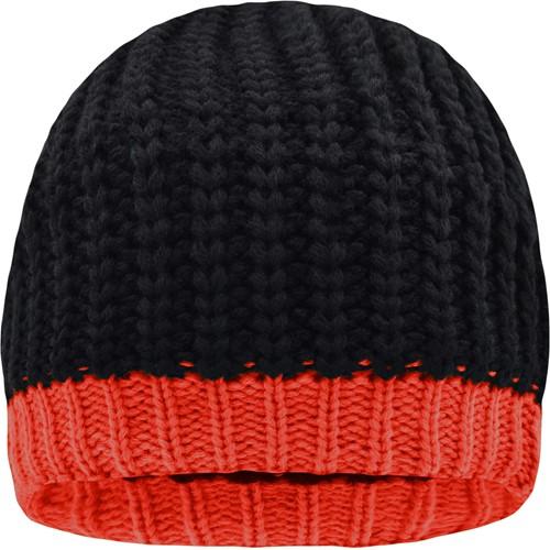 MB7103 Wintersport Hat - Zwart/grenadine - One size
