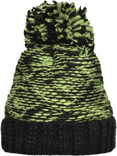 MB7105 Highloft Fleece Hat - Kiwi/zwart - One size