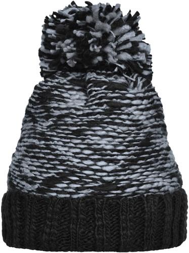 MB7105 Highloft Fleece Hat - Lichtgrijs/zwart - One size