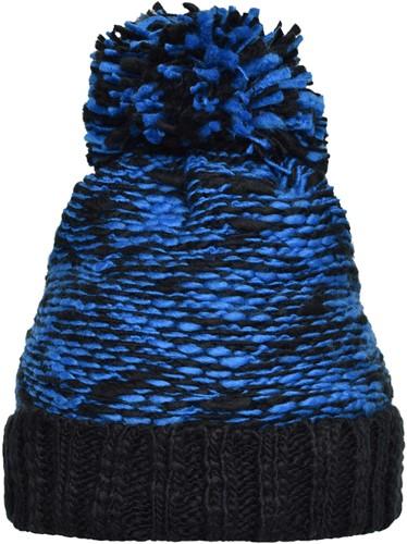 MB7105 Highloft Fleece Hat - Royal/zwart - One size