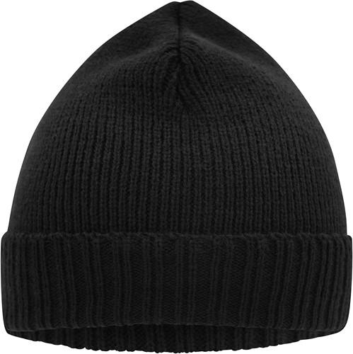 MB7111 Basic Knitted Beanie - Zwart - One size