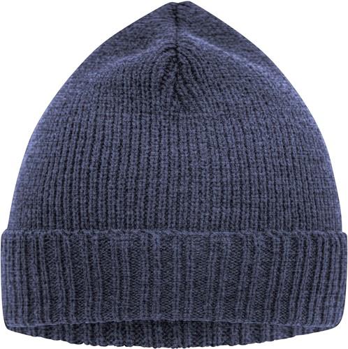 MB7111 Basic Knitted Beanie - Denim-melange - One size