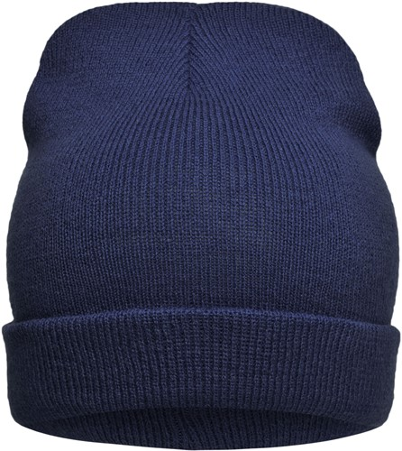 MB7112 Knitted Promotion Beanie - Navy - One size
