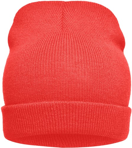 MB7112 Knitted Promotion Beanie - Rood - One size