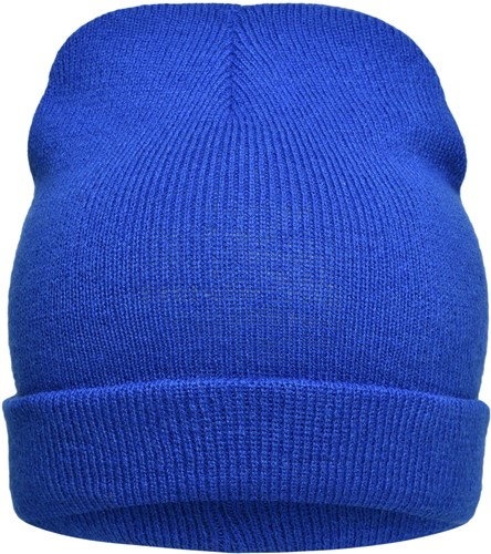 MB7112 Knitted Promotion Beanie - Royal - One size