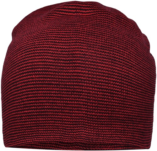 MB7118 Casual Long Beanie - Indianenrood/zwart - One size