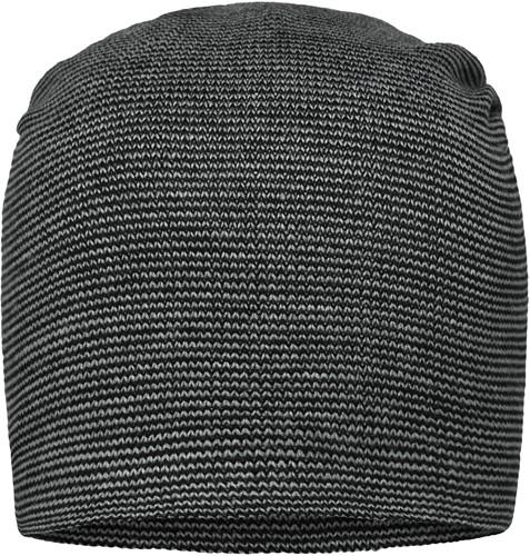 MB7118 Casual Long Beanie - Zilver/zwart - One size