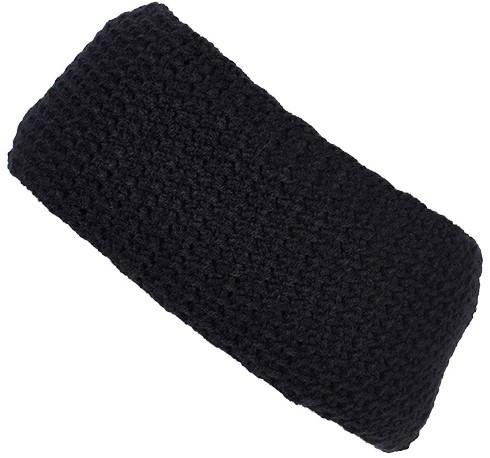 MB7119 Fine Crocheted Headband - Navy - One size