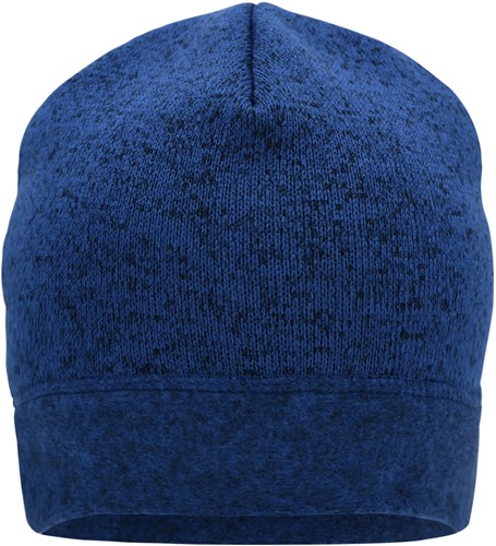 MB7121 Knitted Fleece Workwear Beanie - STRONG - - Royal-melange/navy - One size