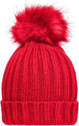 MB7129 Ladies´ Winter Beanie - Rood - One size