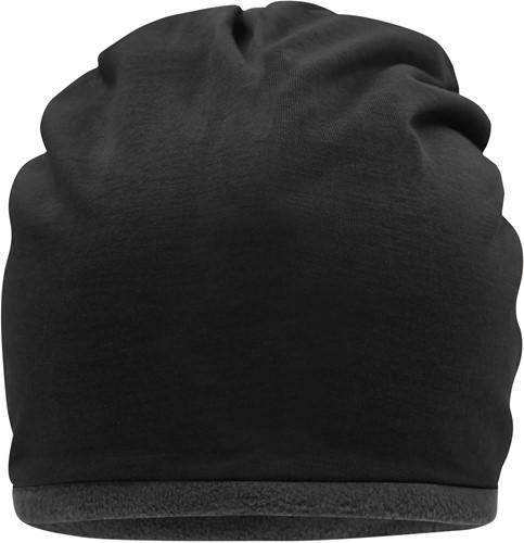 MB7131 Fleece Beanie - Zwart/carbon - One size