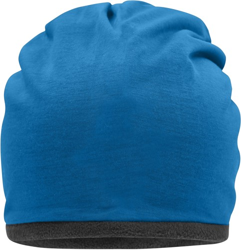 MB7131 Fleece Beanie - Felblauw/carbon - One size