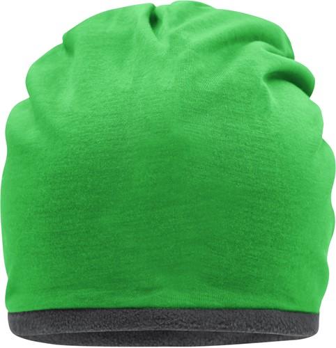 MB7131 Fleece Beanie - Varengroen/carbon - One size