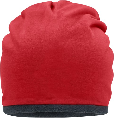 MB7131 Fleece Beanie - Rood/carbon - One size
