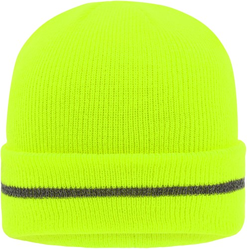 MB7141 Reflective Beanie - Felgeel/zilver - One size
