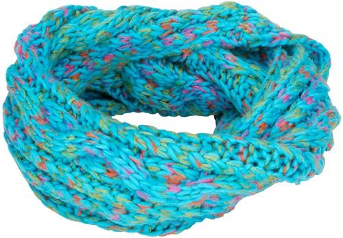 MB7303 Fancy Yarn Scarf - Turquoise-melange - One size