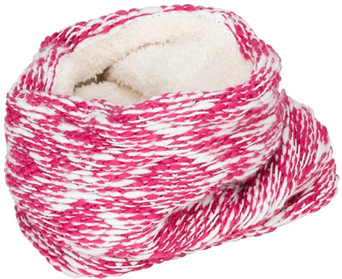 MB7304 Highloft Fleece Loop - Roze/wit - One size