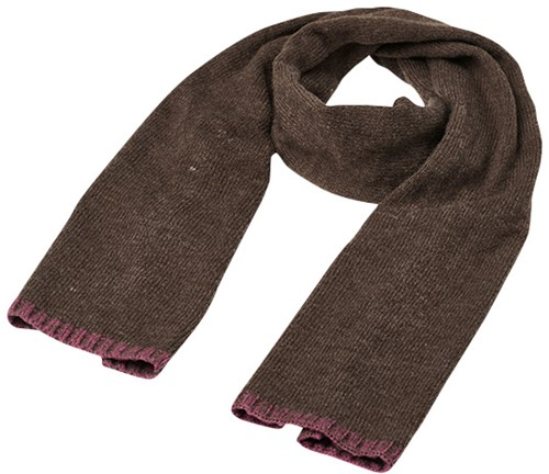 MB7305 Traditional Scarf - Bruin-melange/paars - One size