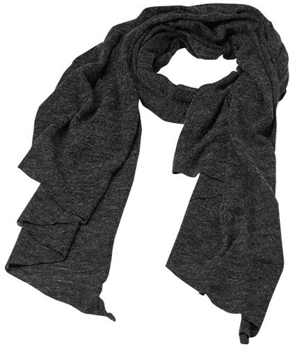 MB7306 Fine Knitted Scarf - Antraciet-melange - One size