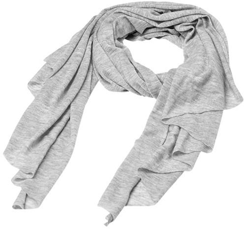 MB7306 Fine Knitted Scarf - Lichtgrijs-melange - One size