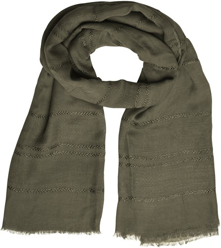 MB7310 Structured Summer Scarf - Olijf - One size