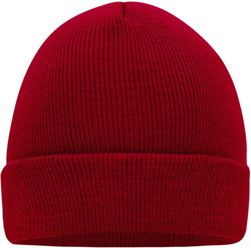 MB7500 Knitted Cap - Dieprood - One size