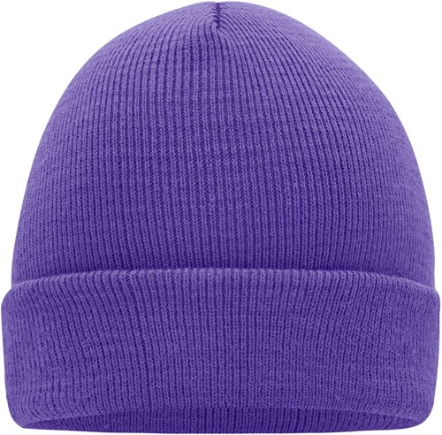 MB7500 Knitted Cap - Donkerpaars - One size