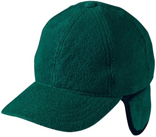 MB7510 6 Panel Fleece Cap with Earflaps - Donkergroen - One size