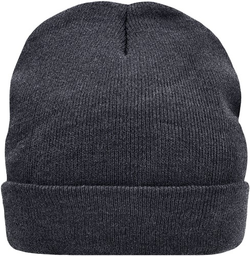 MB7551 Knitted Cap Thinsulate™ - Donkergrijs-melange - One size