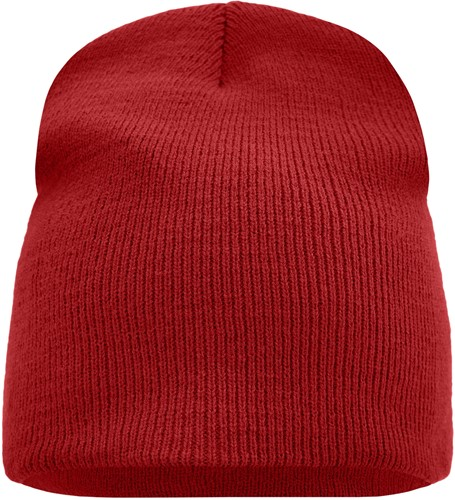 MB7580 Beanie No.1 - Dieprood - One size