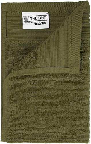 T1-30 Classic guest towel - Olive green - 30 x 50 cm