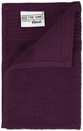 T1-30 Classic guest towel - Plum - 30 x 50 cm