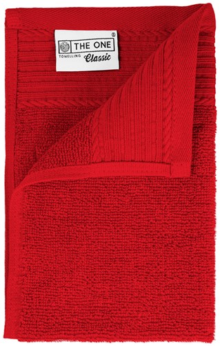 T1-30 Classic guest towel - Red - 30 x 50 cm