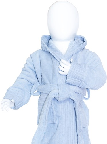 T1-BABYBATH Baby bathrobe - Light blue - 68/74