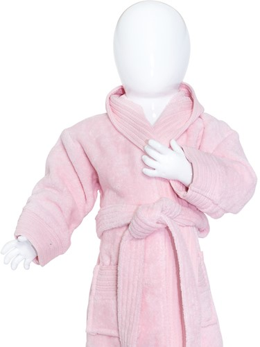 T1-BABYBATH Baby bathrobe - Light pink - 98/110