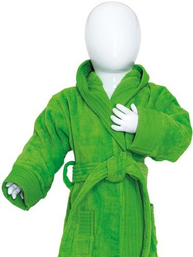T1-BABYBATH Baby bathrobe - Lime green - 68/74