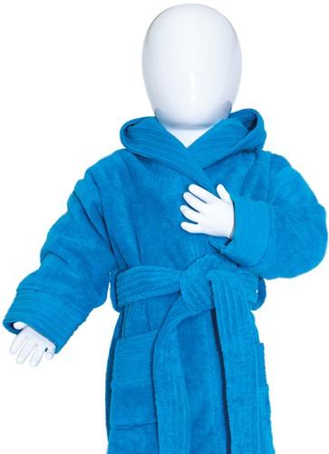 T1-BABYBATH Baby bathrobe - Turquoise - 80/92