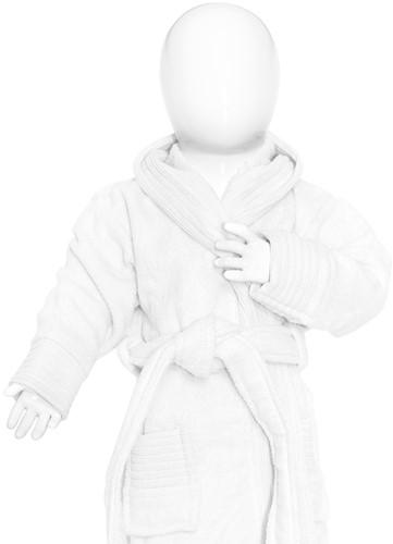 T1-BABYBATH Baby bathrobe - White - 68/74