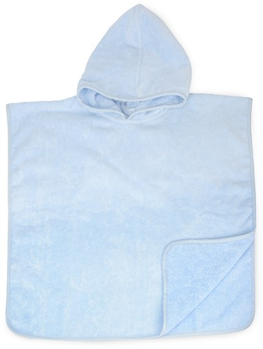 T1-BABYPONCHO Baby poncho  - Light blue - 55 x 55 cm