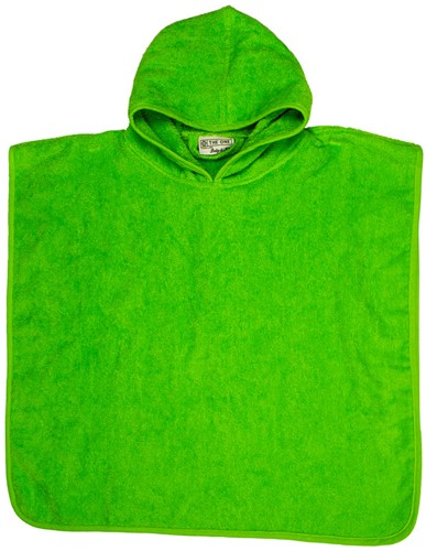 T1-BABYPONCHO Baby poncho  - Lime green - 55 x 55 cm
