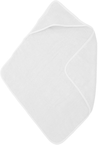 T1-BABYT Baby cape - White - 75 x 75 cm